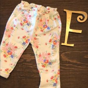 French terry baby gap floral cozy sweat pants